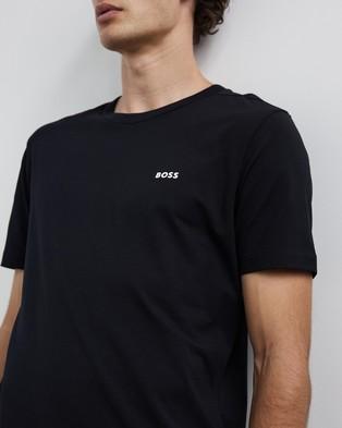 BOSS Crew Neck Logo Tee - T-Shirts & Singlets (Black)