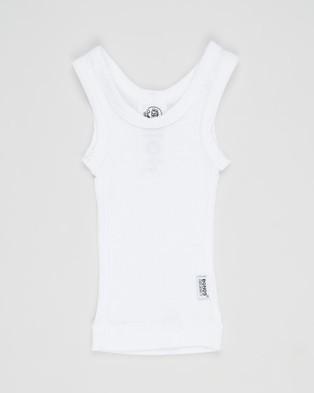 Bonds Baby 2 Pack Organic Chesty Tank   Babies - T-Shirts & Singlets (White)