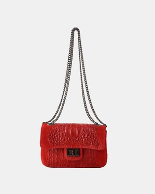 Lux Haide Emma Cross Body Clutch Bag - Clutches (Red)