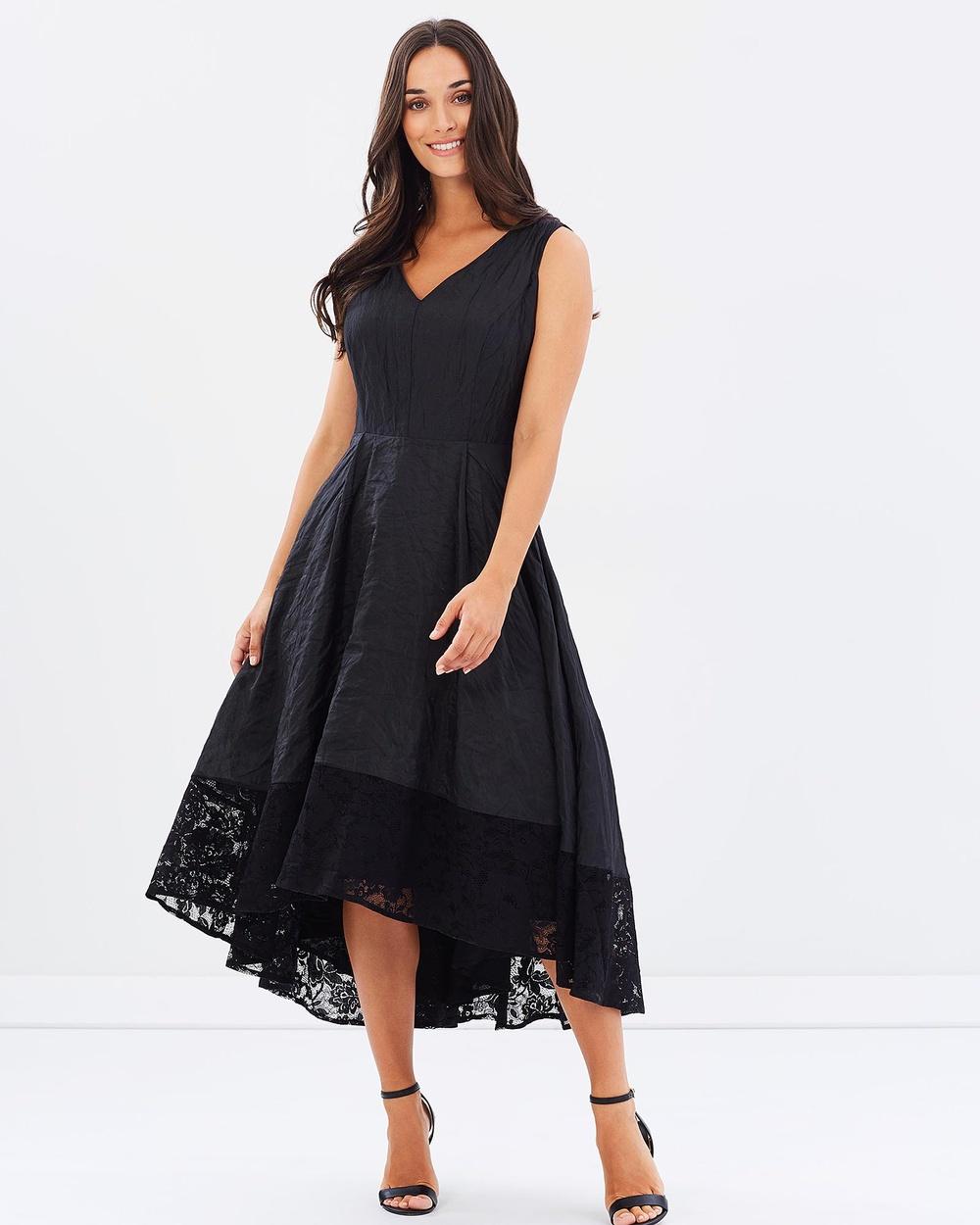 Faye Black Label Midnight Dance V Neck Flare Dress Dresses Ebony Midnight Dance V-Neck Flare Dress