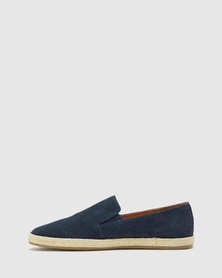 Oxford Nelson Suede Espadrille Shoe - Casual Shoes (Blue)