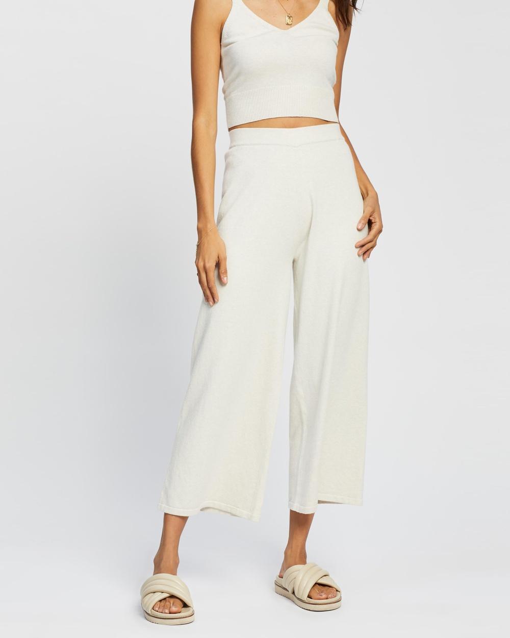 AERE Organic Cotton Knit Pants Cream
