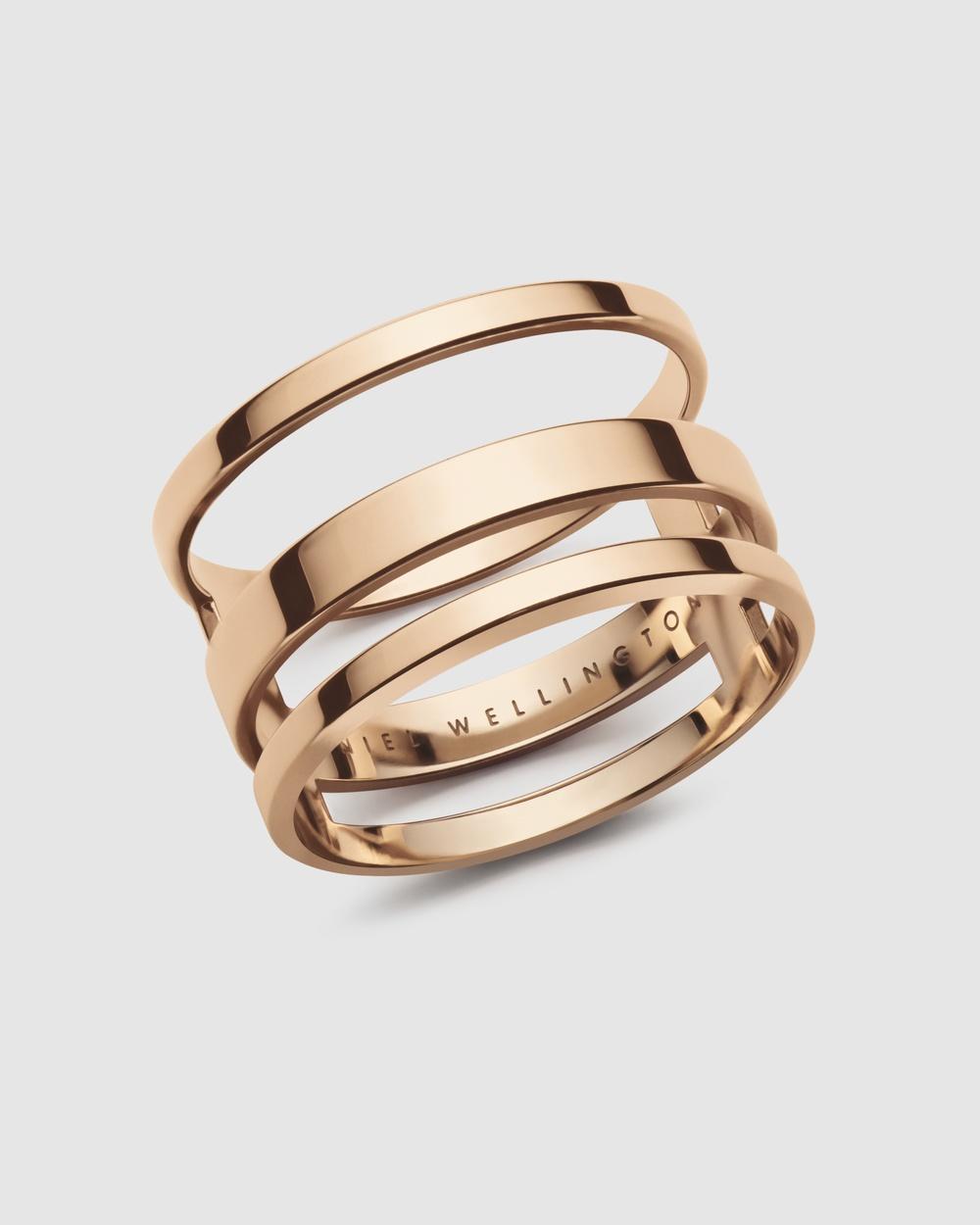 Daniel Wellington Elan Triad Ring Jewellery Rose gold