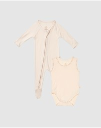 Boody Organic Bamboo Eco Wear - 2-Pack Baby All-in-Ones