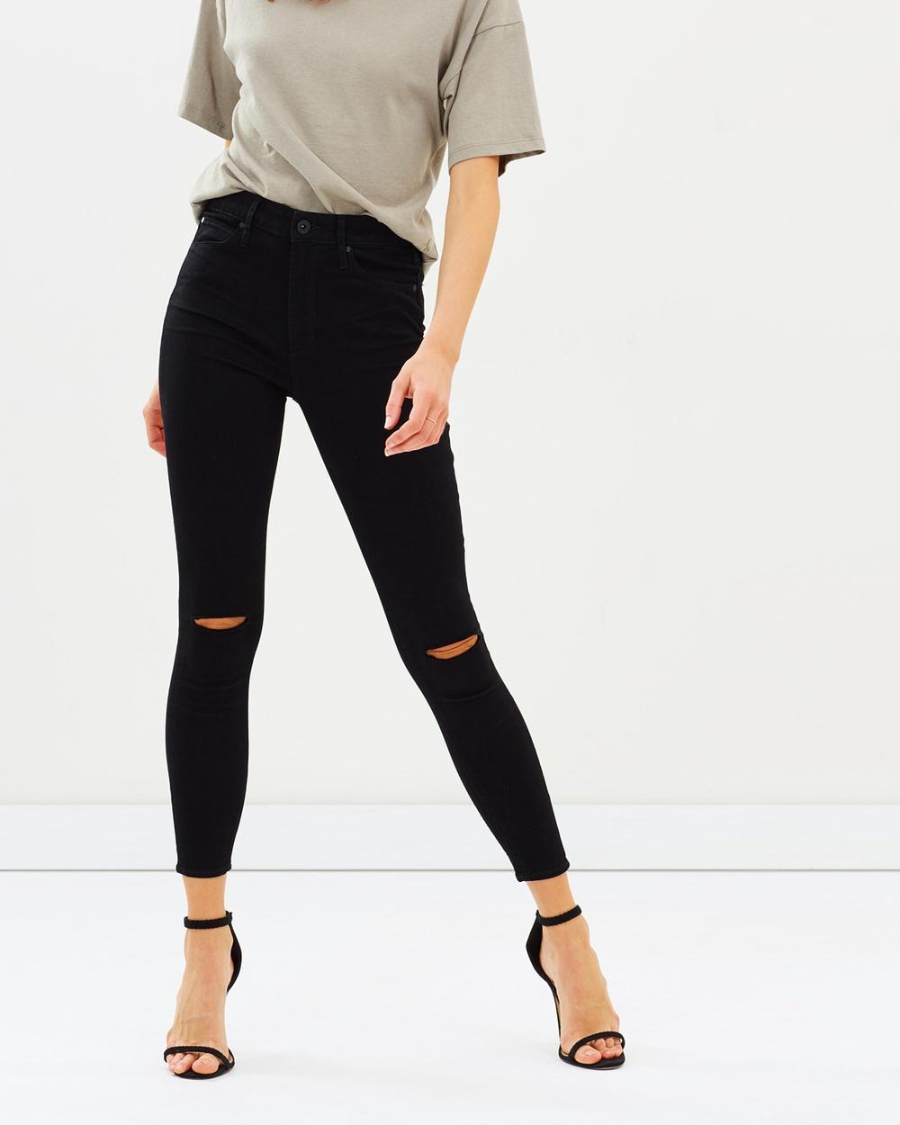 Articles of Society High Lisa Jeans High-Waisted Black Tar Australia