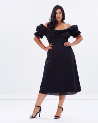 Lala Belle – Off The Shoulder Cotton Dress Black