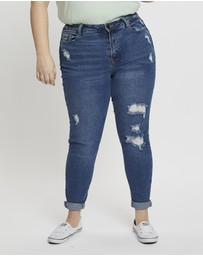 You & All - Plus High Rise Rip Jeans