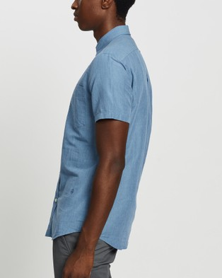 Kent and Curwen Pinstriped Cotton Shirt - Casual shirts (Blue)