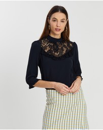 Dorothy Perkins - Lace Yoke Top