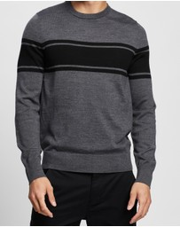 Calvin Klein - Merino Stripe Crew Neck Sweater