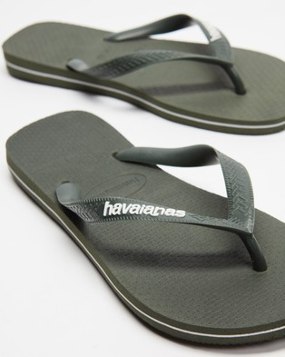 Havaianas - Rubber Logo   Unisex - All thongs (Olive Green) Rubber Logo - Unisex