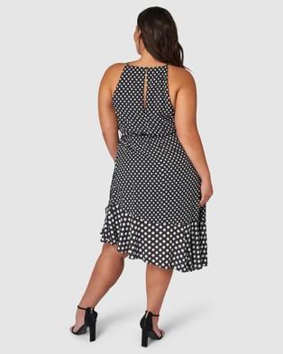 Pink Dusk Shall We Dance Midi Dress - Printed Dresses (Black)