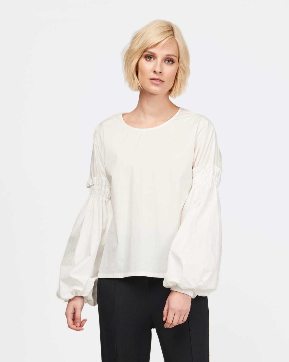 MVN The Writing Room Shirt Tops White The Writing Room Shirt