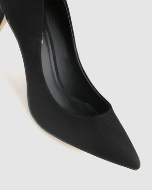 Betts Empowered Pointed Toe Stiletto Pump - All Pumps (Black Micro)
