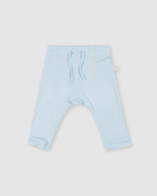 Boody Organic Bamboo Eco Wear 2 Pack Baby Pull On Pants - All gift sets (Chalk/Sky)
