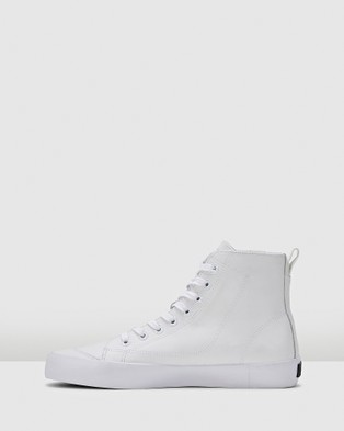 Volley Deuce Leather High - High Top Sneakers (White Leather)