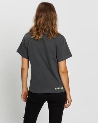 Rolla's MTV Tie Dye Tee - T-Shirts & Singlets (Dark Grey)