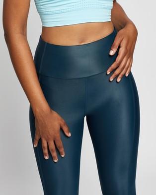 Sweaty Betty High Shine 7 8 Workout Leggings - 7/8 Tights (Beetle Blue)