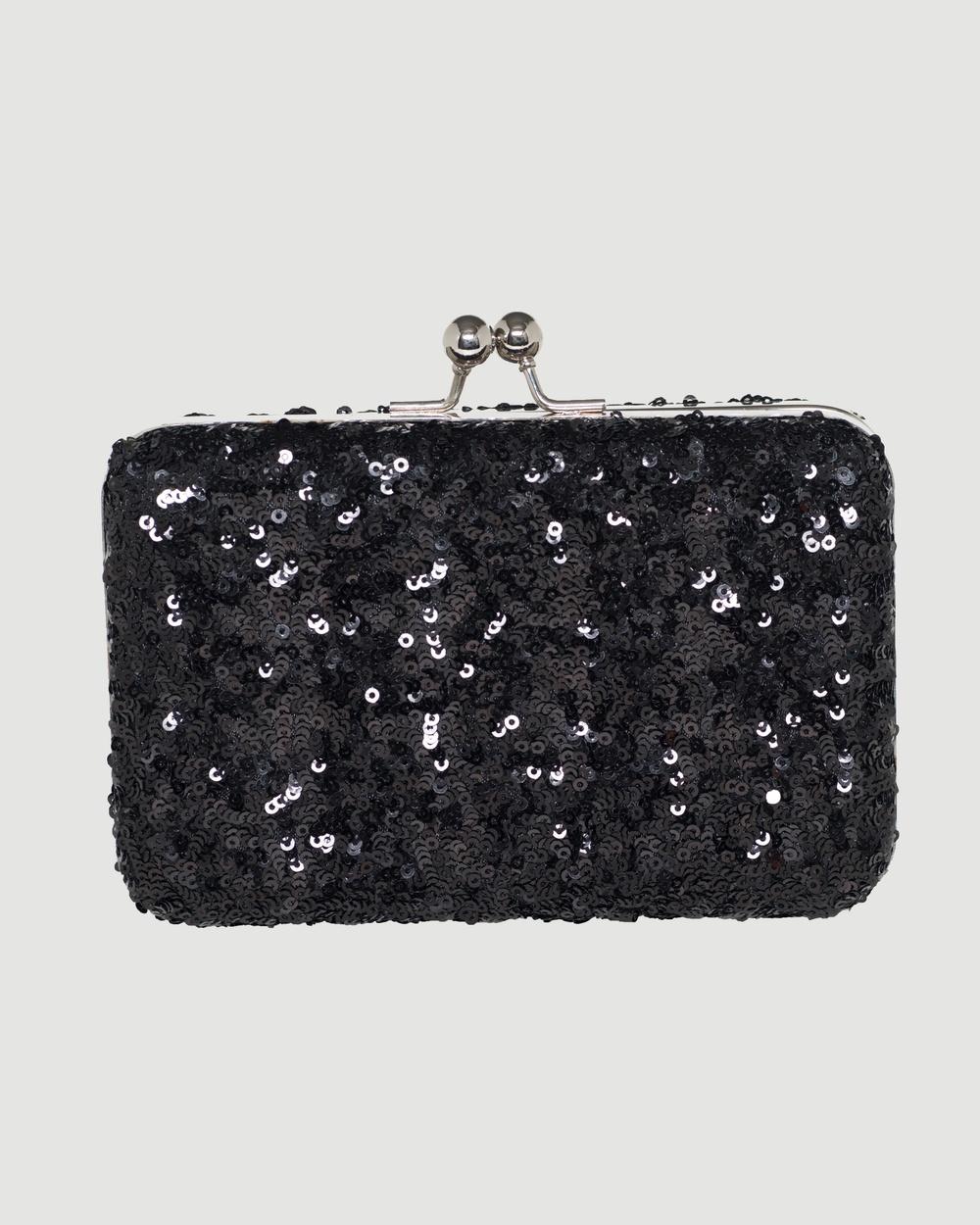 Marlafiji Liz Clutch Bags Black Leather bags Australia
