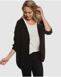 Womens Delicate Mind Slouchy Knit Cardigan
