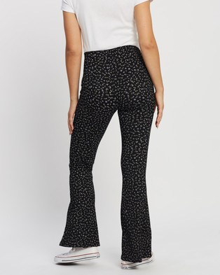 TOPSHOP Maternity Maternity Ditsy Flare Trousers - Pants (Monochrome)