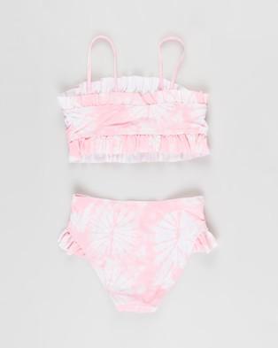 Cotton On Kids - Riley Ruffle Bikini Set Teens (Cali Pink Tie Dye) Kids-Teens
