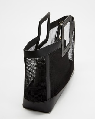 Fall The Label Mesh Black Tote with Pouch Insert - Bags (Black)