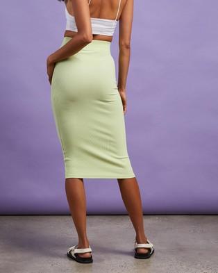 Cools Club Rib Midi Skirt - Pencil skirts (Lime)