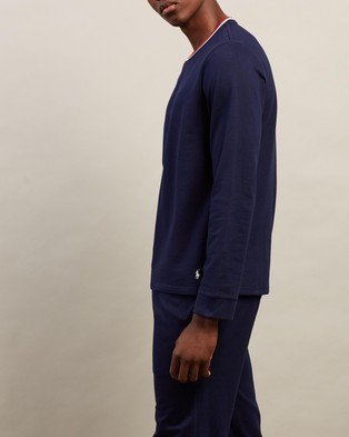Polo Ralph Lauren Long Sleeve Sleep Crew - Sleepwear (Navy)