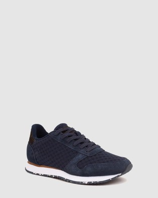 Woden Ydun Suede Mesh II - Low Top Sneakers (Navy)
