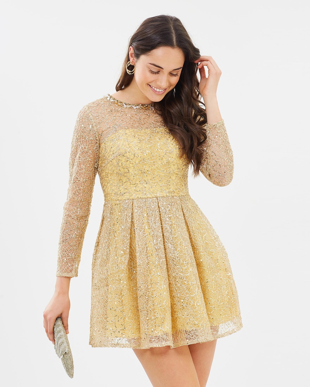 ROXCIIS Spidergold Cocktail Dress Dresses Gold Spidergold Cocktail Dress