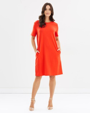 Lincoln St – The Boxy Dress Red