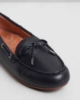 Vionic Virginia Leather Moccasins - Flats (Black)