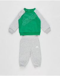 adidas Performance - Fleece Crew and Joggers Set - Babies-Kids