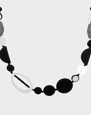 Florence Broadhurst Turnabouts Abstract Adjustable Necklace - Jewellery (Black/White)