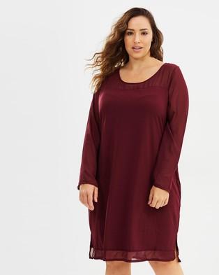 JUNAROSE – Paprika Above Knee Dress Red