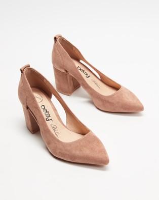 Betsy - Suede High Heels - All Pumps (Nude) Suede High Heels