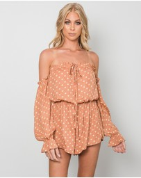 Toby Heart Ginger - Melo Nights Playsuit