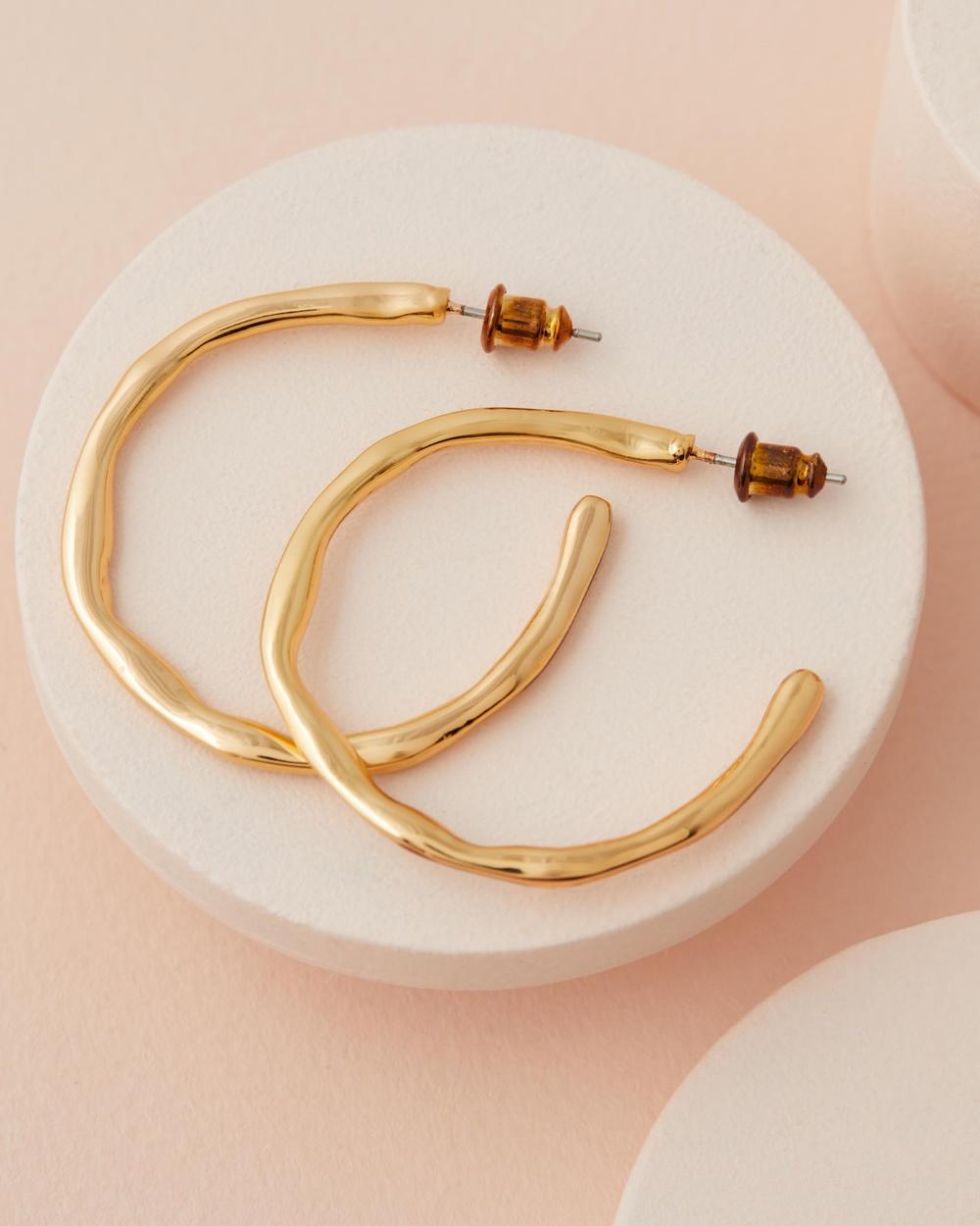 Reliquia Jewellery Always Ready Gold Hoop Earrings Gold