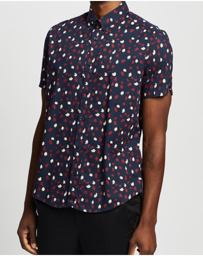 Ben Sherman - SS Handprinted Print Shirt
