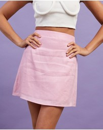 Dazie - French Quarter Linen Skirt