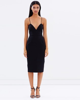 Talulah – Suddently There Midi Dress – Bodycon Dresses (Black)