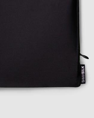 Shhh Silk Silk Pillowcase   Queen Size - Sleep (Black)