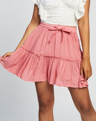 All About Eve Supple Washed Skirt - Skirts (PURPLE)