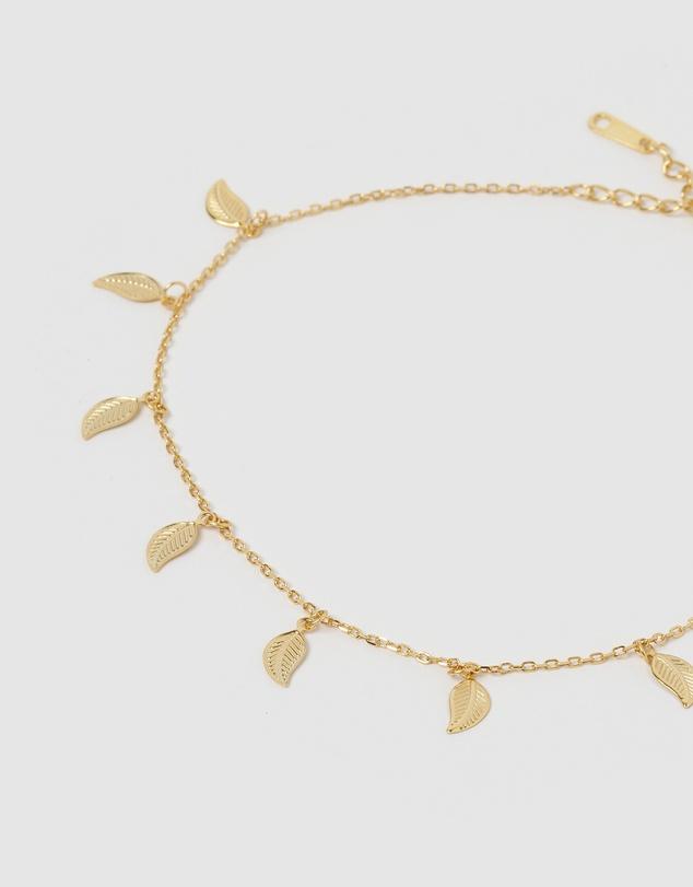 Women Fern Leaf Chain Anklet