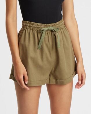Tussah Marielle Shorts - High-Waisted (Khaki)