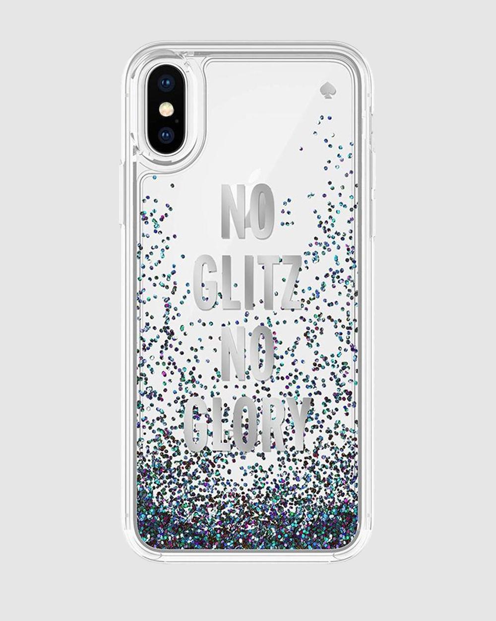 Kate Spade iPhone Xs & X Liquid Glitter Case Tech Accessories Multi Australia
