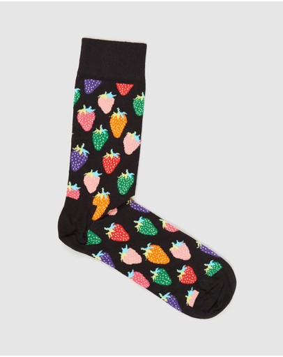 Happy Socks - Strawberry Crew Socks - Men's
