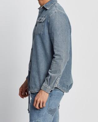 Commune Long Sleeve Denim Shirt - Casual shirts (Washed Blue)