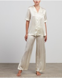 Maison Essentiele - Silk Short Sleeve Shirt & Pants Set